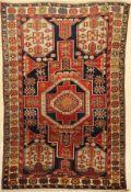 Schirwan Konagkend alt, Kaukasus, datiert 1941 Jahre, Wolle auf Wolle, ca. 204 x 134 cm,EHZ: 2-