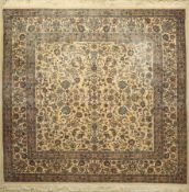 China, ca. 50 Jahre, Korkwolle, ca. 243 x 253 cm, EHZ: 3China Rug, approx. 50 years, wool/cotton,