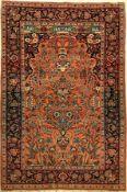 Keshan Kork, Persien, um 1940, Korkwolle, ca. 200 x 135 cm, EHZ: 3Kashan Rug, Persia, c. 1940,