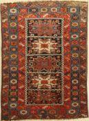 Schirwan antik, Kaukasus, um 1920, Wolle auf Wolle, ca. 148 x 112 cm, EHZ: 3Shirvan Rug, Caucasus,