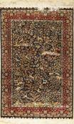 Seiden Hereke, China, ca. 30 Jahre, reine Naturseide, ca. 122 x 79 cm, EHZ: 2Silk Hereke Rug, China,