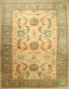 Mahal (Re-Produktion) alt, Persien, ca. 40 Jahre, Wolle auf Baumwolle, ca. 351 x 277 cm,