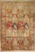 Kaisery-Flosh alt, Türkei, ca. 50 Jahre, Floshseide, ca. 288 x 202 cm, EHZ: 2-3Kaisery-Flosh Rug,