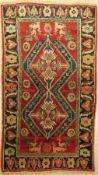 Karabagh alt (Signiert), Kaukasus, um 1940/50, Wolle auf Wolle, ca. 210 x 120 cm, EHZ: 2Karabagh Rug