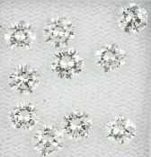 Lot 10 lose Brillanten zus. ca. 3.308 ct feines Weiß/lr Schätzpreis: 13500, - EURLot 10 loose