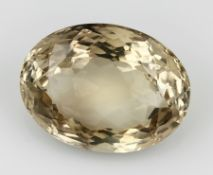 Loser Citrin ca. 284.00 ct, oval facett.Loose citrine approx. 284.00 ct , oval bevelled