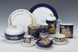 Umfangreiches Speise-, Kaffee- und Teeservice, Rosenthal, Entwurf Björn Wiinblad, 1970er Jahre,