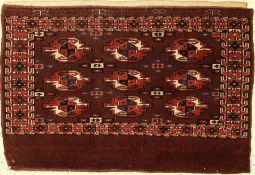 "Yomud ""Tschowal"" alt, Turkmenistan, um 1890, Wolle auf Wolle, ca. 105 x 70 cm, EHZ: 2-3Yomud"