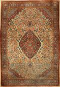 Keschan Dabir antik, Persien, um 1910, Wolle auf Baumwolle, ca. 467 x 314 cm, EHZ: 5Keschan Dabir
