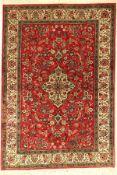 Ghom Seide, Persien, ca. 50 Jahre, reine Naturseide, ca. 153 x 105 cm, EHZ: 4(verfärbungen)Qum