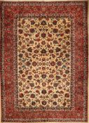 Esfahan, Persien, ca. 60 Jahre, Wolle auf Baumwolle, ca. 395 x 284 cm, EHZ: 3Esfahan carpet, Persia,