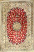 Nain, Persien, ca. 40 Jahre, Wolle mit Seide, ca. 308 x 208 cm, EHZ: 2-3Nain carpet, Persia, approx.