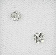 Lot 2 Altschliff-Diamanten zus. 0.51 ct, Weiß/si Schätzpreis: 380, - EURLot 2 old cut diamonds total