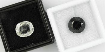 Konvolut 2 lose Saphire, 1 x 4.86 ct, oval facett., gelb, 11.00 x 9.46 x 4.77 mm, unbeh., mit GIC-