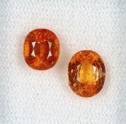Lot lose Madeira Granate, zus. ca. 4.1 ct, oval facett., in versch. Größen Schätzpreis: 530, -