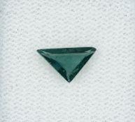 Loser Alexandrit, 0.72 ct, triangelf. facett., unbeh., 5.30 x 9.00 x 2.36 mm, mit GCI-Expertise