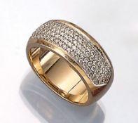 CHRIST 14 kt Gold Ring mit Brillanten, GG/WG 585/000, mittig Brillanten zus. ca. 1.5 ct Weiß/vvs-vs,