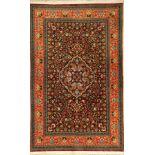 Ghom Kork alt fein, Persien, ca. 20 Jahre, Korkwolle, ca. 222 x 140 cm, hochwertig, EHZ: 2 (