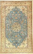 Feiner Nain alt (6LA), Persien, ca. 50 Jahre alt, Korkwolle mit Seide, ca. 270 x 165 cm, EHZ: 2 (