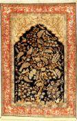 Seiden Ghom alt (Lebensbaum), Persien, um 1960, reine Naturseide, ca. 216 x 140 cm, EHZ: 2 (guter