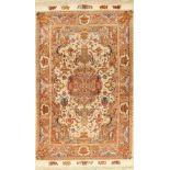 """Täbriz """"Part-Silk"""" fein, (60 RAJ), Persien,ca. 30 Jahre, Korkwolle mit und auf Seide, ca.157 x 97"""