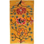 "Khaden alt, Tibet, um 1940, Wolle auf Baumwolle, ca. 164 x 92 cm, EHZ: 2-3Tibetan Yellow Khaden """