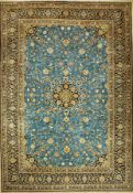 Feiner Keschan Kork (Signiert), Persien, ca. 40 Jahre alt, Korkwolle, ca. 404 x 280 cm, EHZ: 2 (