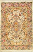 "Täbriz alt, Persien, ca. 40 Jahre, Korkwolle mit Seide, ca. 154 x 103 cm, EHZ: 2-3Fine Tabriz """