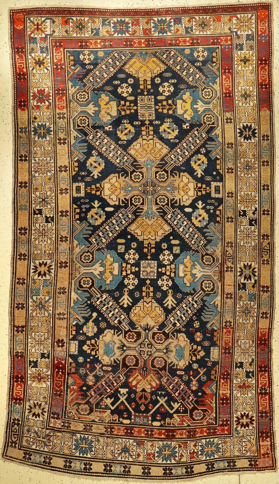 Derbend antik (Seikur Muster), Kaukasus, um 1900, Wolle auf Wolle, ca. 328 x 195 cm, EHZ: 3-4.