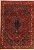 """Feiner Bidjar """"Part-Silk"""", Persien, ca. 20 Jahre, Korkwolle mit Seide, ca. 245 x 167 cm, sehr"""