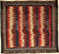 "Sofreh alt, Persien, um 1940, Wolle auf Wolle, ca. 108 x 127 cm, EHZ: 2-3Sofreh ""Flatweave"", Persia,"
