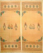"""Mongolische-Chinesische """"Behänge"""" alt (1 Paar), Mongolai, um 1930, Wolle gewebt auf Wolle, ca. 298 x"""