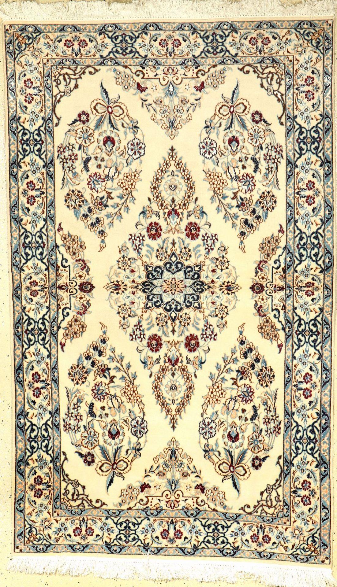 Nain fein (6LA Qualität), Persien, ca. 20 Jahre, Korkwolle mit Seide, ca. 163 x 100 cm, EHZ: 2Fine