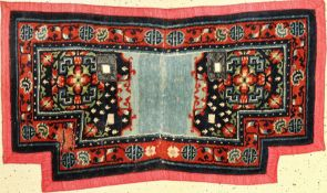 "Sattel antik, Tibet, um 1920, Wolle auf Baumwolle, ca. 119 x 64 cm, EHZ: 3Tibetan ""Saddle"", Tibet,"
