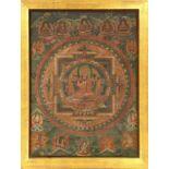 "Tangka alt, Tibet, um 1930, Malerei, ca. 87x 67 cm, EHZ: 3Tibetan Tangkha ""Painting"", Tibet, circa"