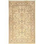 Nain fein (6LA), Persien, ca. 15 Jahre, Korkwolle mit Seide, ca. 208 x 130 cm, feine Qualität,
