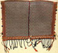 """Gaschgai """"Pferdedecke"""" alt, Boyer-Ahmad Stamm, Persien, um 1930, Wolle auf Wolle, ca. 144 x 100"""