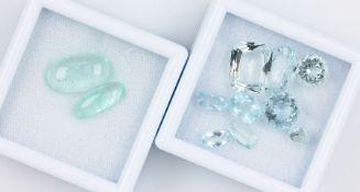 Lot lose Aquamarine, zus. ca. 26 ct, versch. Größen und Schliffarten Schätzpreis: 900, - EURLot