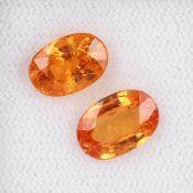 Lot 2 lose Mandarin Granate, zus. ca. 4.4 ct, oval facett. Schätzpreis: 860, - EURLot 2 loose