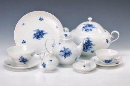 Tee- und Speiseservice, Rosenthal, Modell Romanze in Blau, Entwurf Björn Wiinblad, 1970er Jahre,