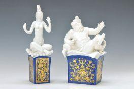 Paar Porzellanfiguren, Meissen, um 1980, Entwurf Peter Strang, König Schehereban und Königin
