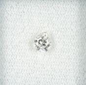 Loser Diamant, 0.43 ct l.get.Weiß/si, tropfenf. facett. Schätzpreis: 750, - EURLoose diamond, 0.43