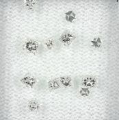 Lot lose Diamanten, zus. 1.06 ct feines Weiß/vs, im Princess-Cut Schätzpreis: 950, - EURLot loose