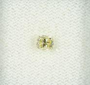 Loser Diamant, 0.39 ct Natural fancy yellow/si2, Kissenschliff, 4.30 x 3.66 x 2.99 mm, mit GIA-