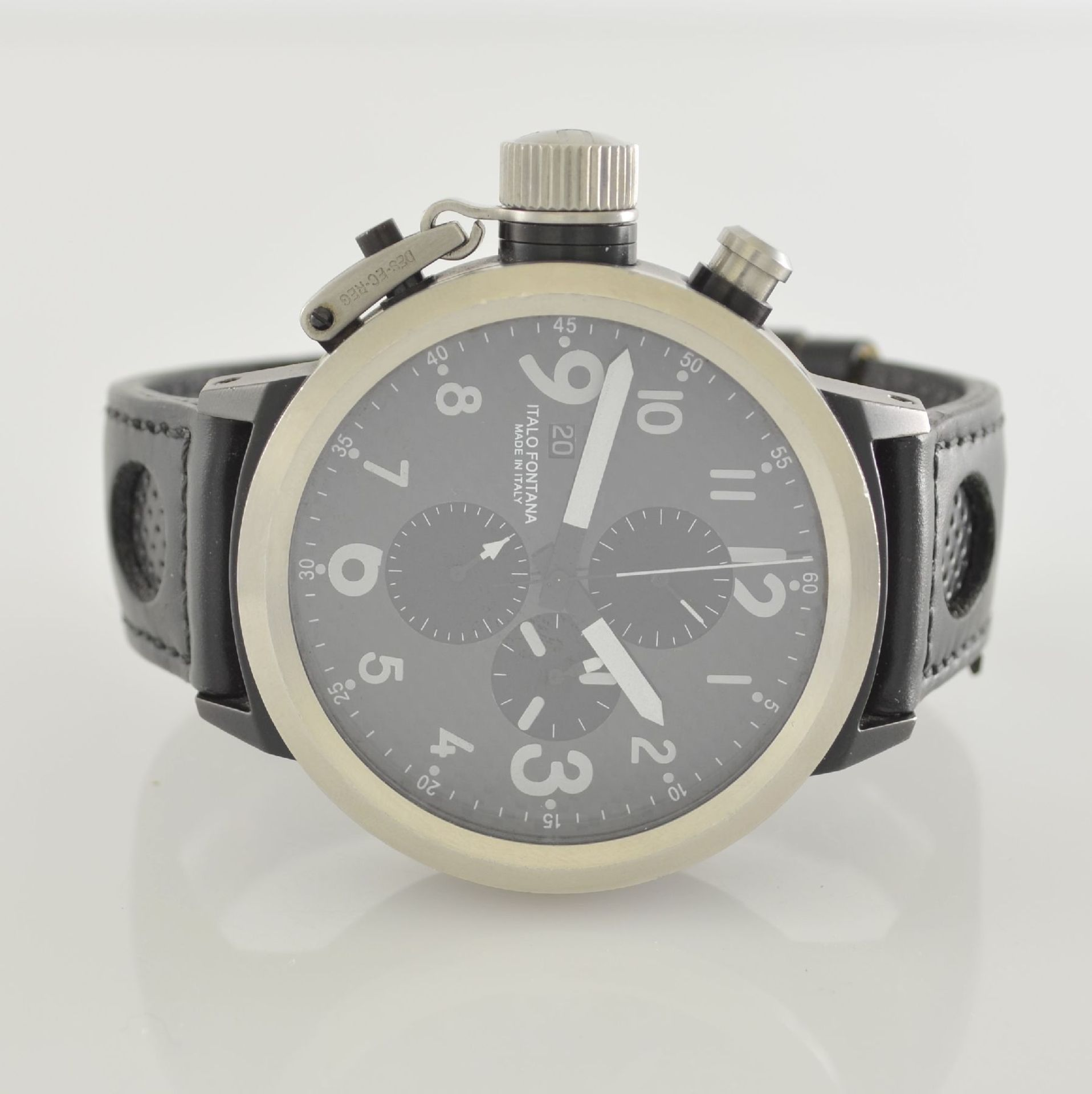 U-BOAT Italo Fontana Herrenarmbanduhr mit Chronograph Model Flightdeck, Automatik, Italien um