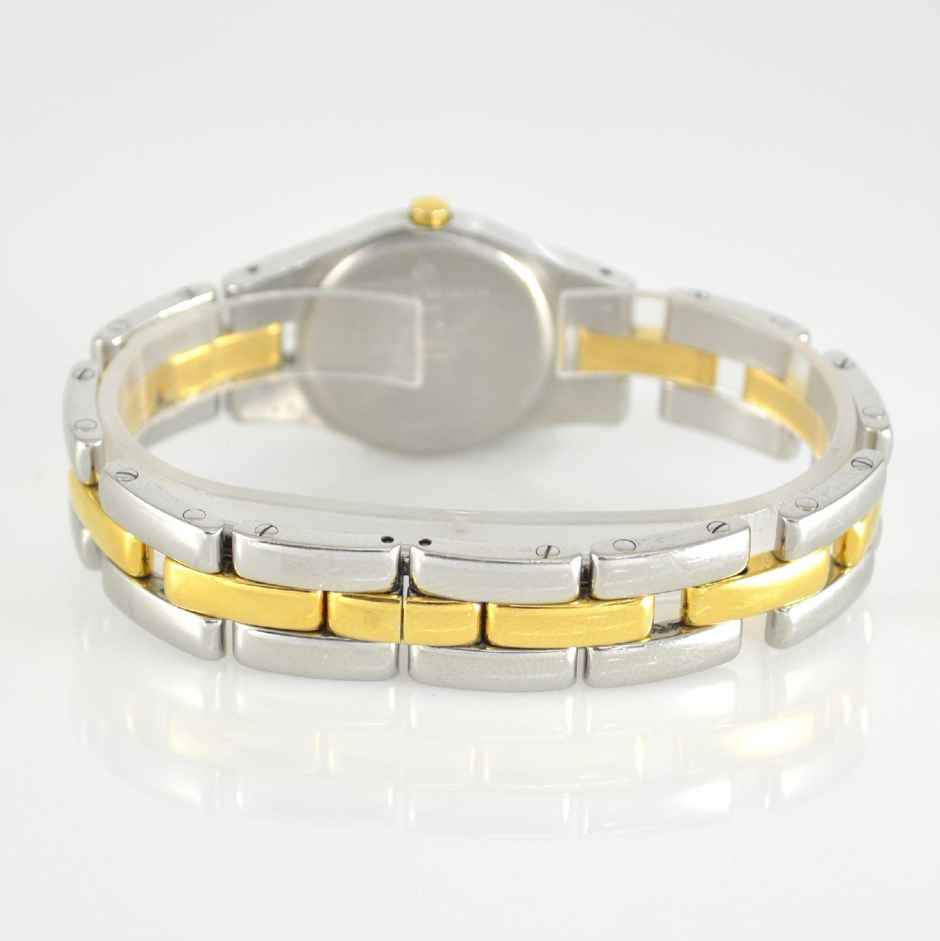 BAUME & MERCIER Damenarmbanduhr in Stahl/ vergoldet, Schweiz um 2000, gedr. Geh. m. integr. - Bild 5 aus 6