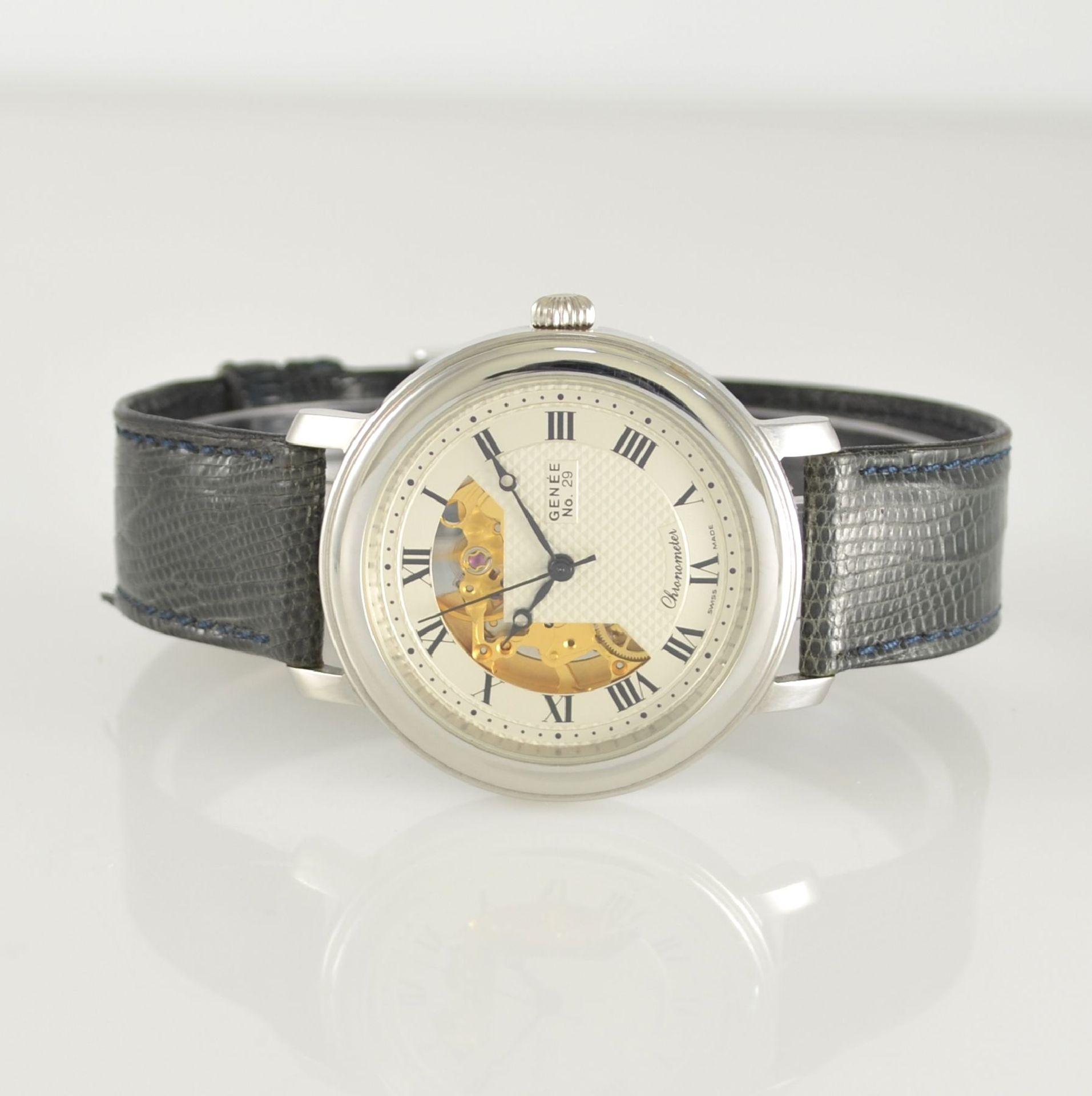 GENÉE No. 29 Chronometer-Herrenarmbanduhr in Stahl, Schweiz lt. beiliegendem Chronometerzertifikat