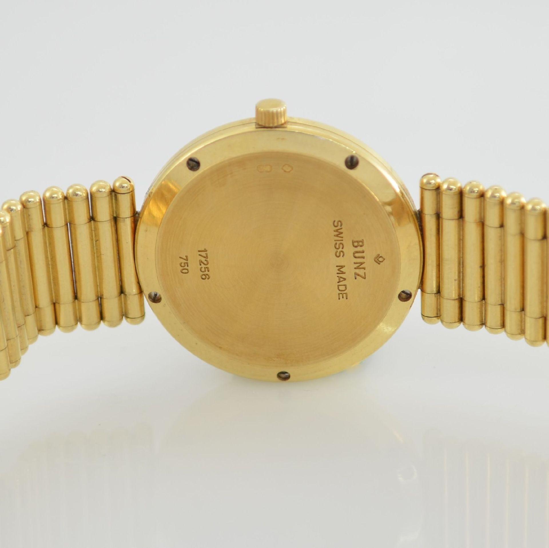 """BUNZ Damenarmbanduhr """"Diamondwatch"""" in GG 750/000, 5-fach verschr. Geh. mit integr. GG 750/000 - Bild 8 aus 9"""