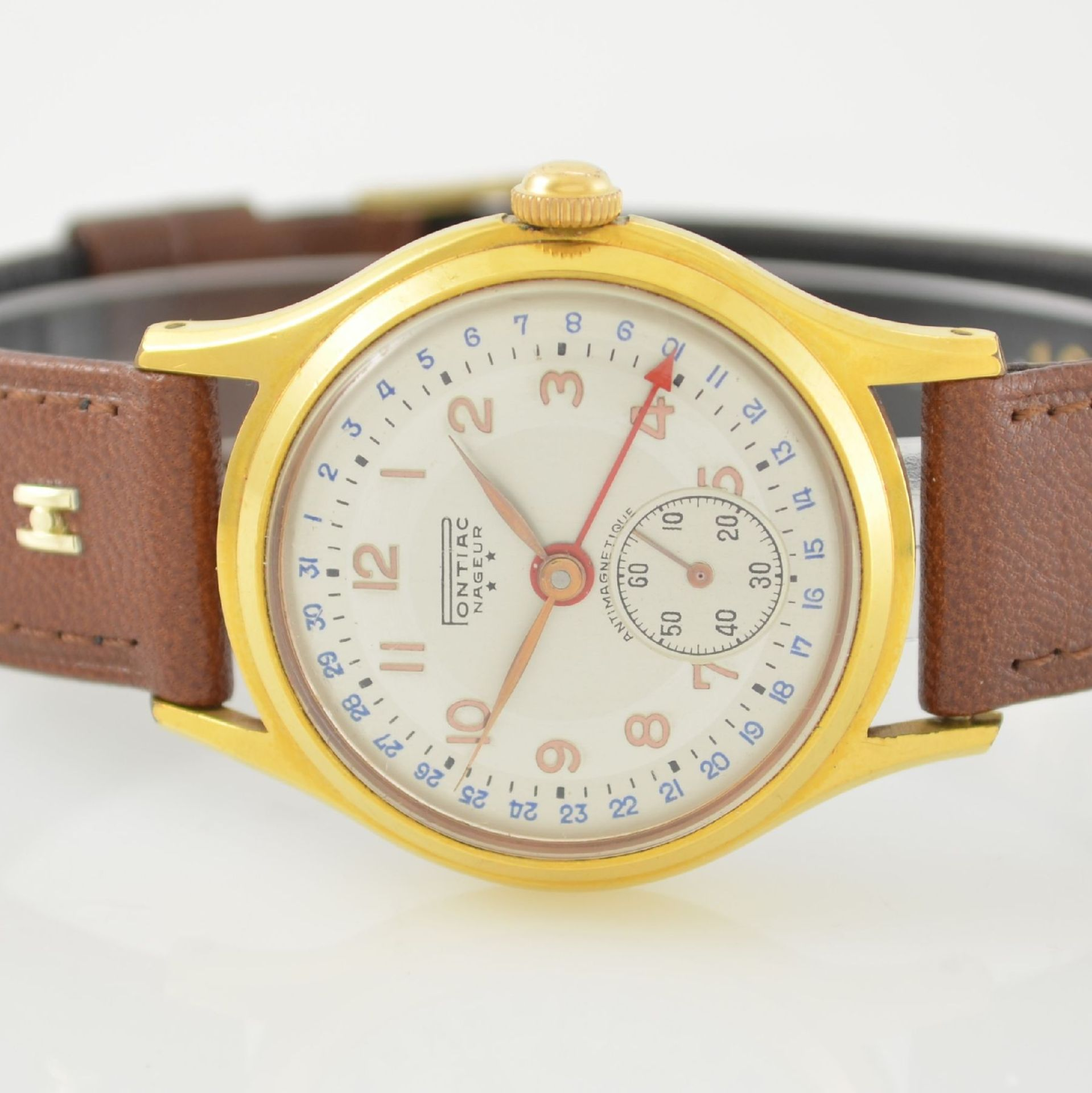 Konvolut: 2 Armbanduhren mit Kalender bzw. Datum, Schweiz um 1950-1960, Handaufzug, 1) NACAR m. - Bild 8 aus 12