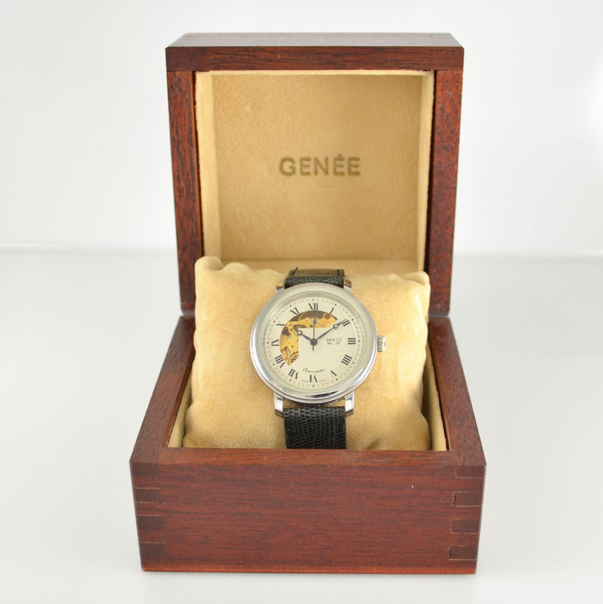 GENÉE No. 29 Chronometer-Herrenarmbanduhr in Stahl, Schweiz lt. beiliegendem Chronometerzertifikat - Bild 7 aus 8